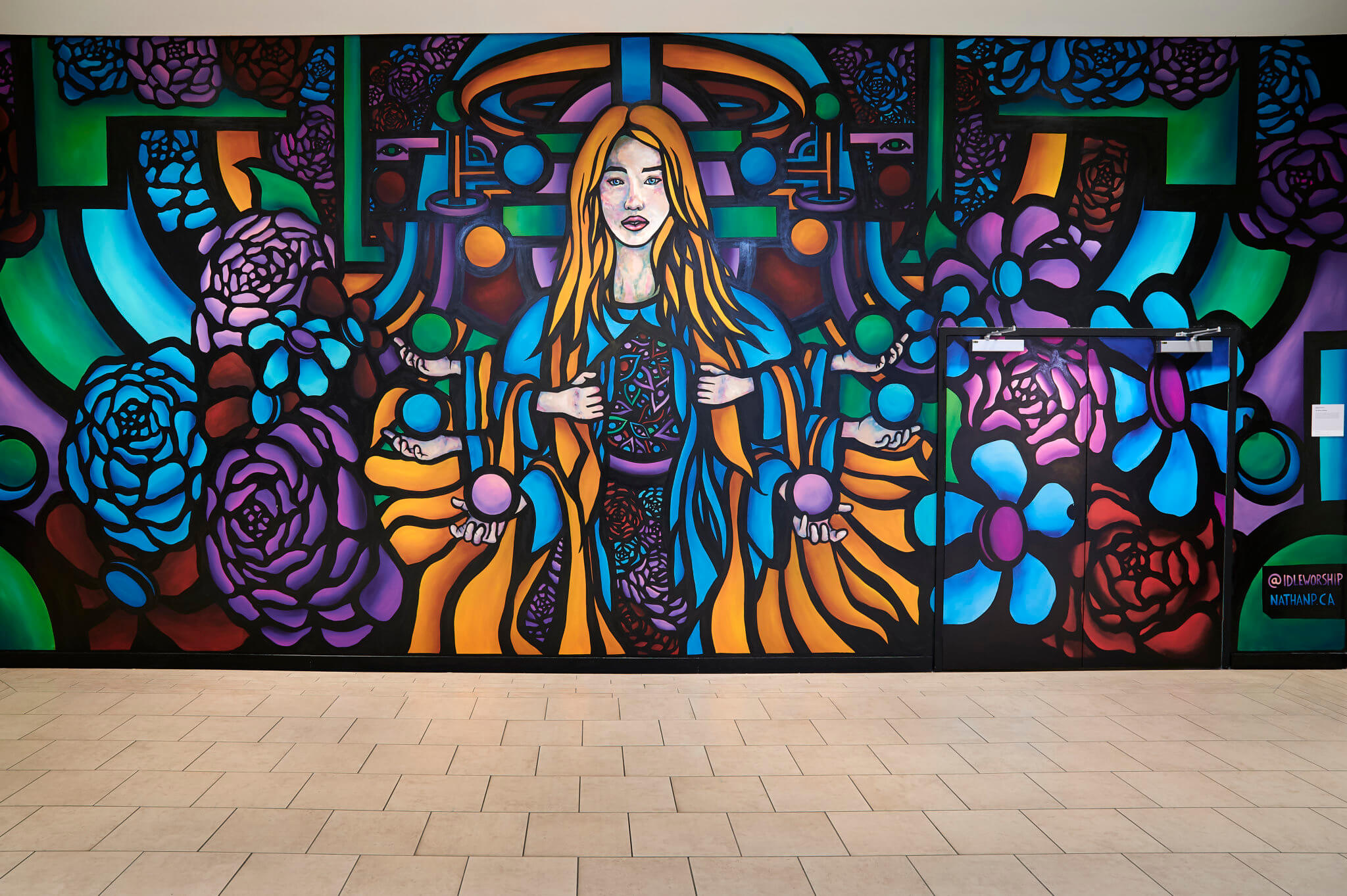 """""""The Rite of Spring"""" mural by Nathan Panousis."""