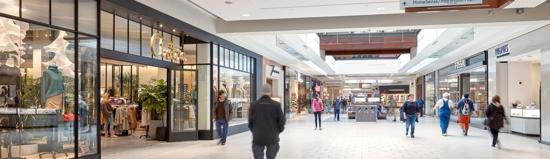 People walking through the centre