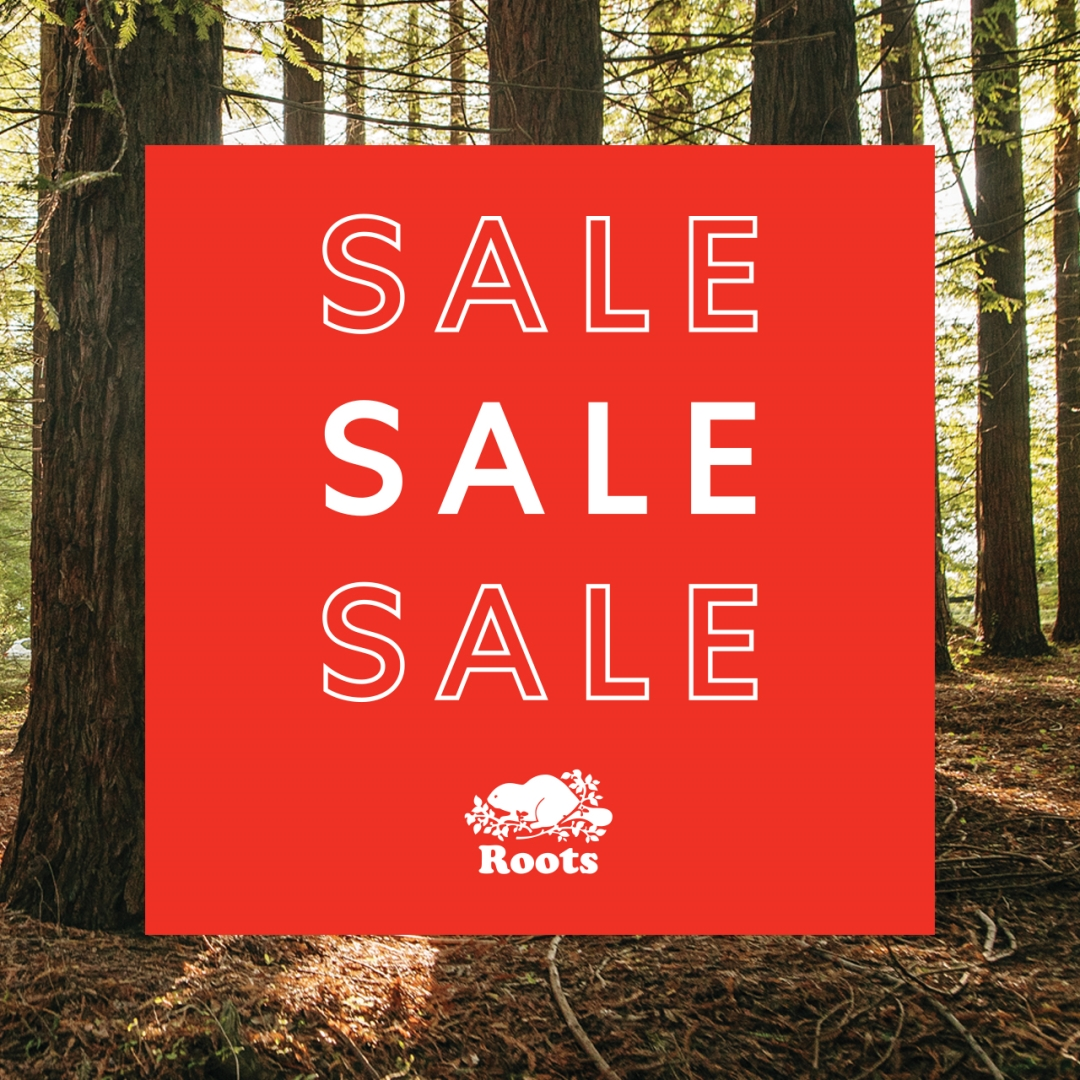 Roots Summer Sale with Forest in background