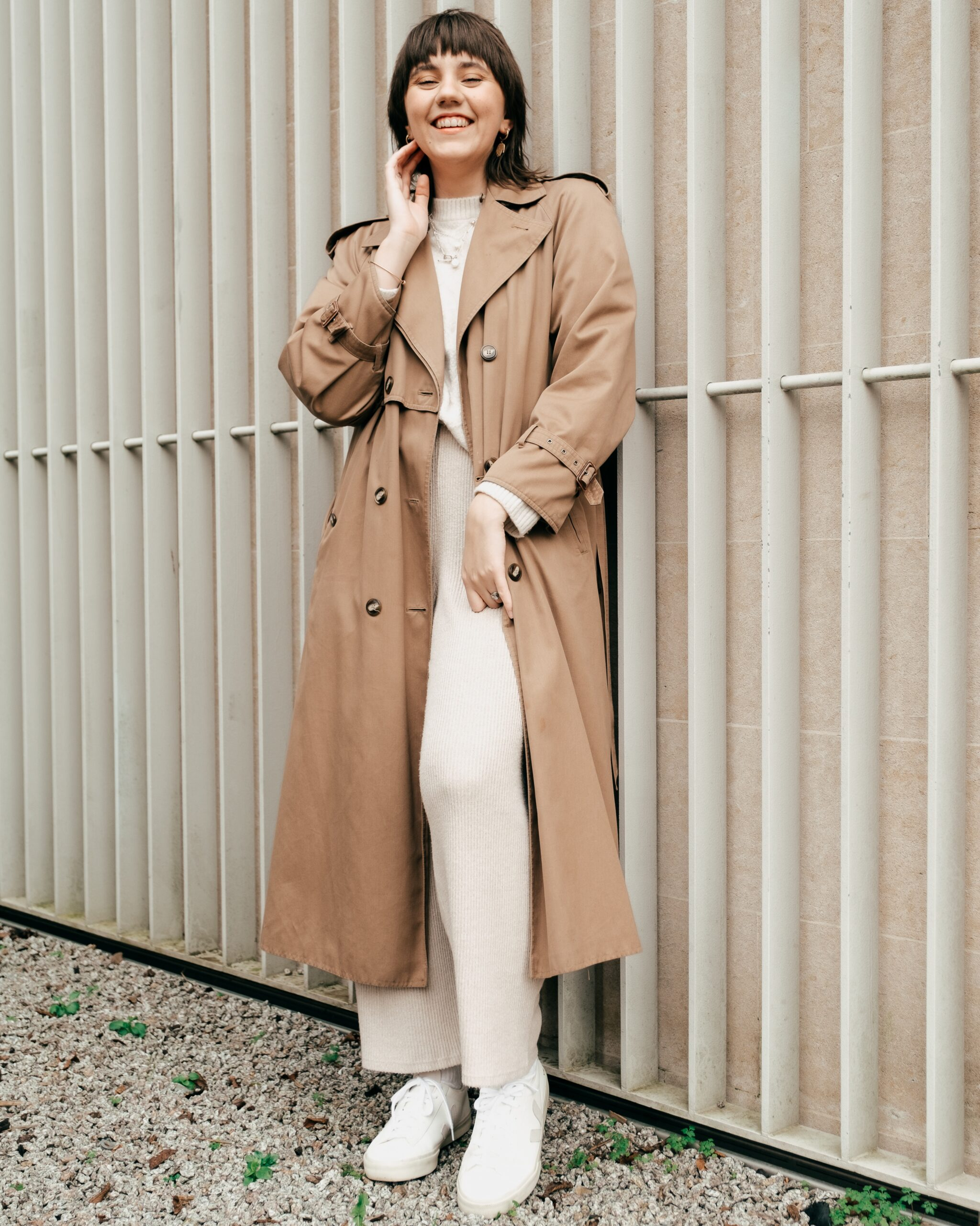 Woman in a trenchcoat